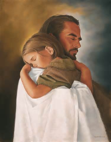 Jesus and a little girl